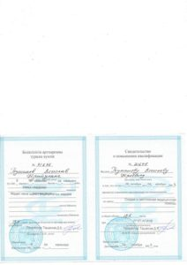 Свидетельство о повышении квалификации Туманов 2008