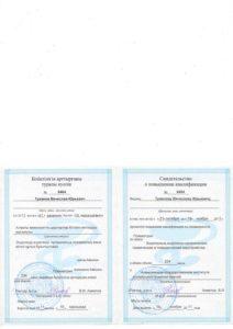 Повышение квалификации Туманов В. 2011